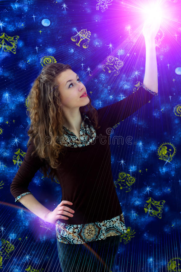 Download Κορίτσι στοκ εικόνες. εικόνα από λάμψη, ωροσκόπια, μοιχαλίδα - 13188742