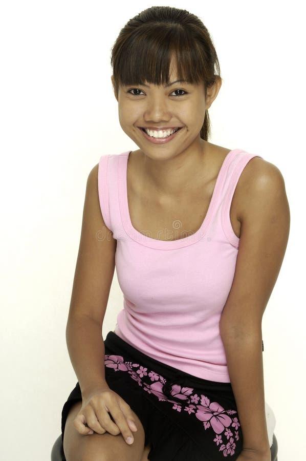 Download κορίτσι 4 ευτυχές στοκ εικόνες. εικόνα από κορυφή, ponytail - 123756