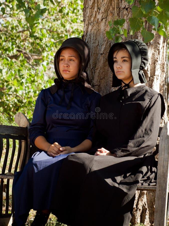 Κορίτσι Amish στοκ εικόνα