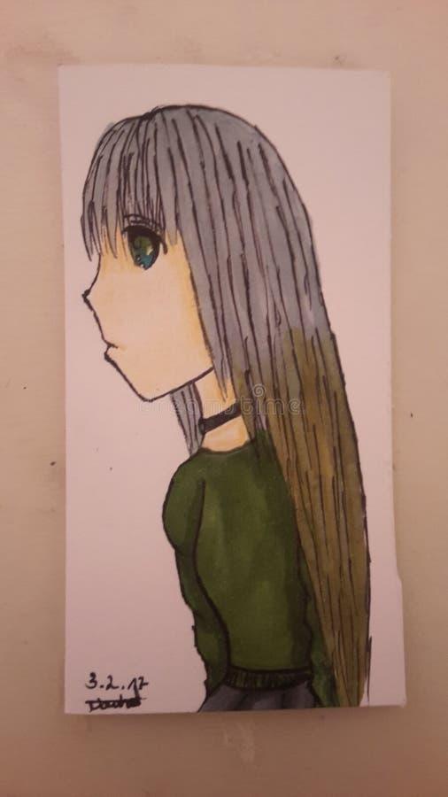 Κορίτσι Anime στοκ φωτογραφία