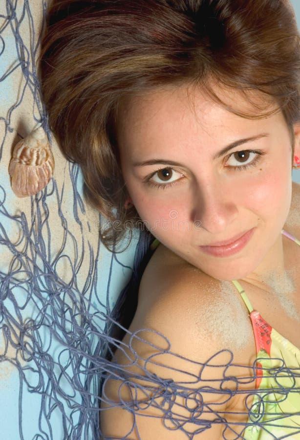 κορίτσι aqua στοκ φωτογραφία με δικαίωμα ελεύθερης χρήσης