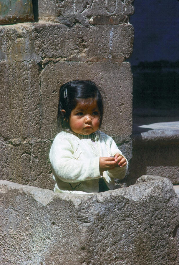 κορίτσι cuzco στοκ εικόνες