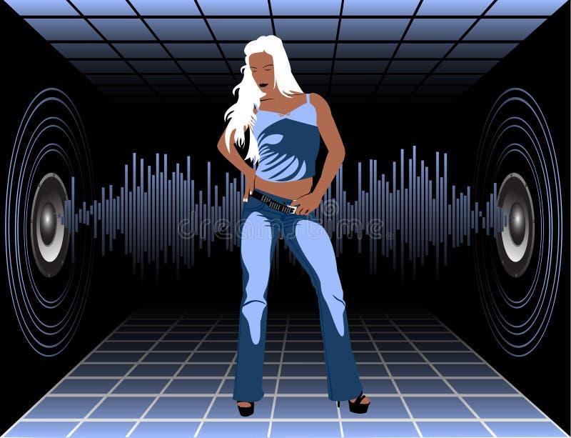 κορίτσι disco ελεύθερη απεικόνιση δικαιώματος