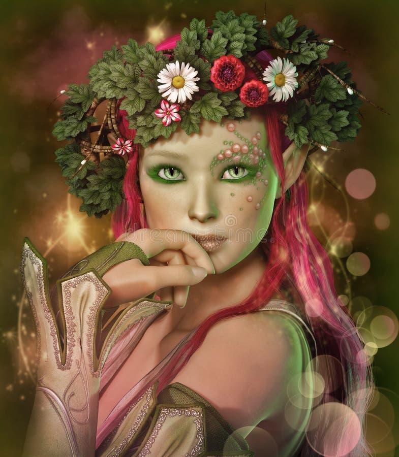Κορίτσι Elven διανυσματική απεικόνιση