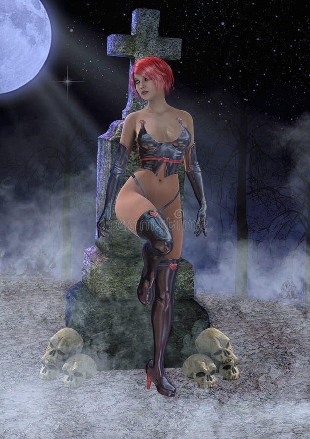 Κορίτσι Goth απεικόνιση αποθεμάτων