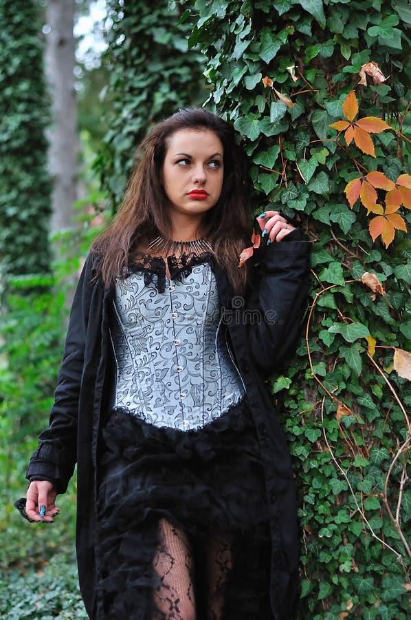 Κορίτσι Goth στοκ εικόνα