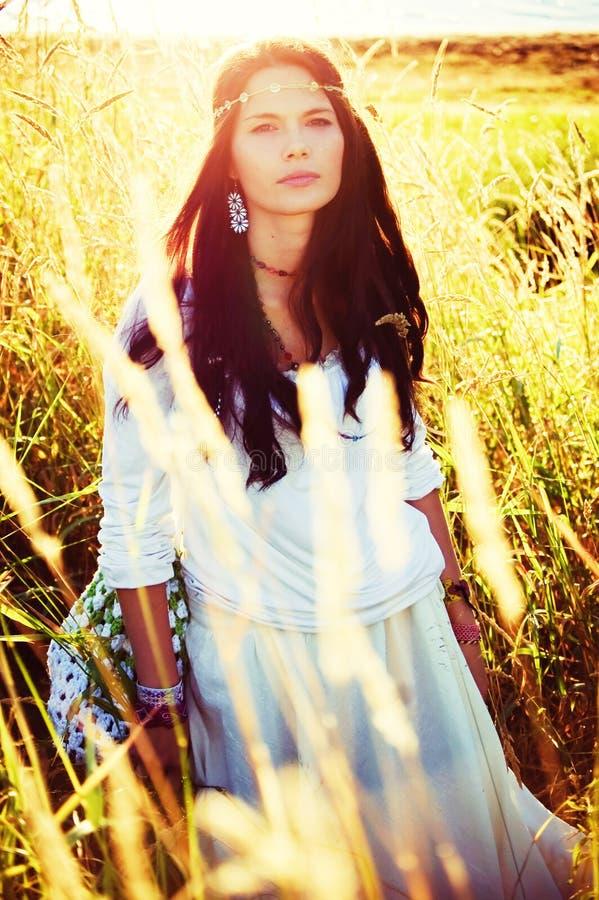 Κορίτσι Hippie στοκ εικόνα με δικαίωμα ελεύθερης χρήσης