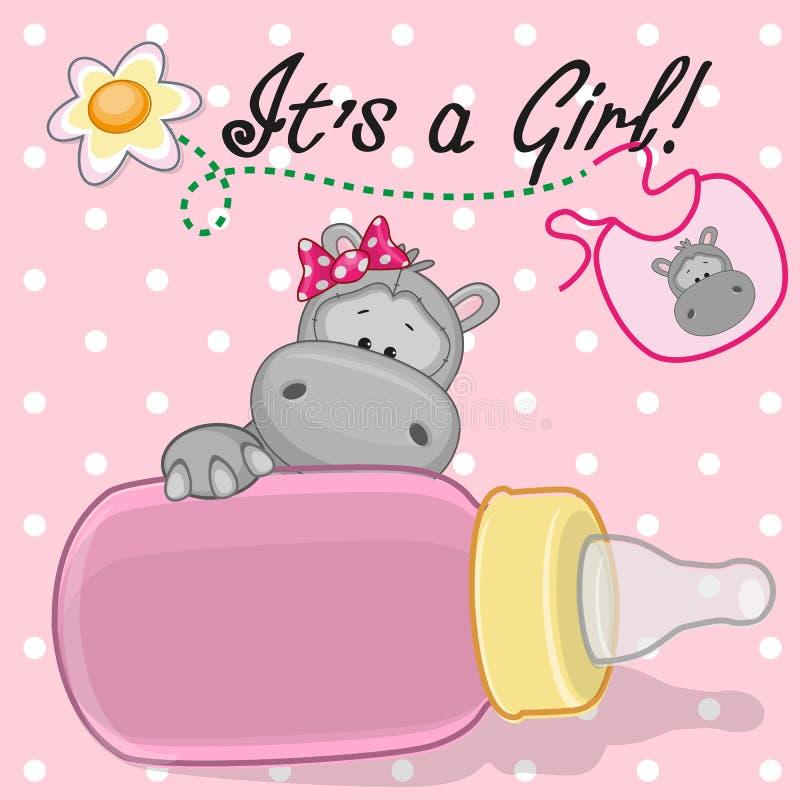 Κορίτσι Hippo ελεύθερη απεικόνιση δικαιώματος