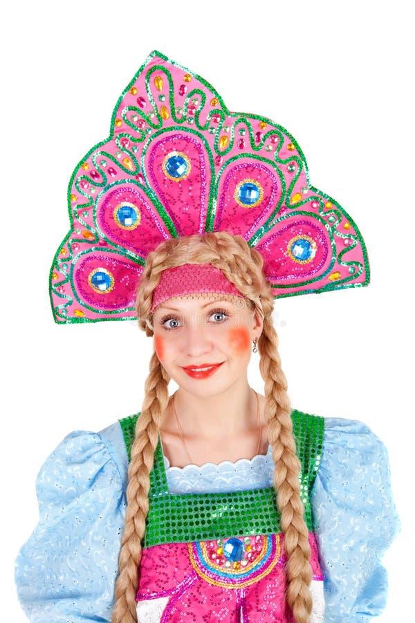 κορίτσι kokoshnik στοκ εικόνες