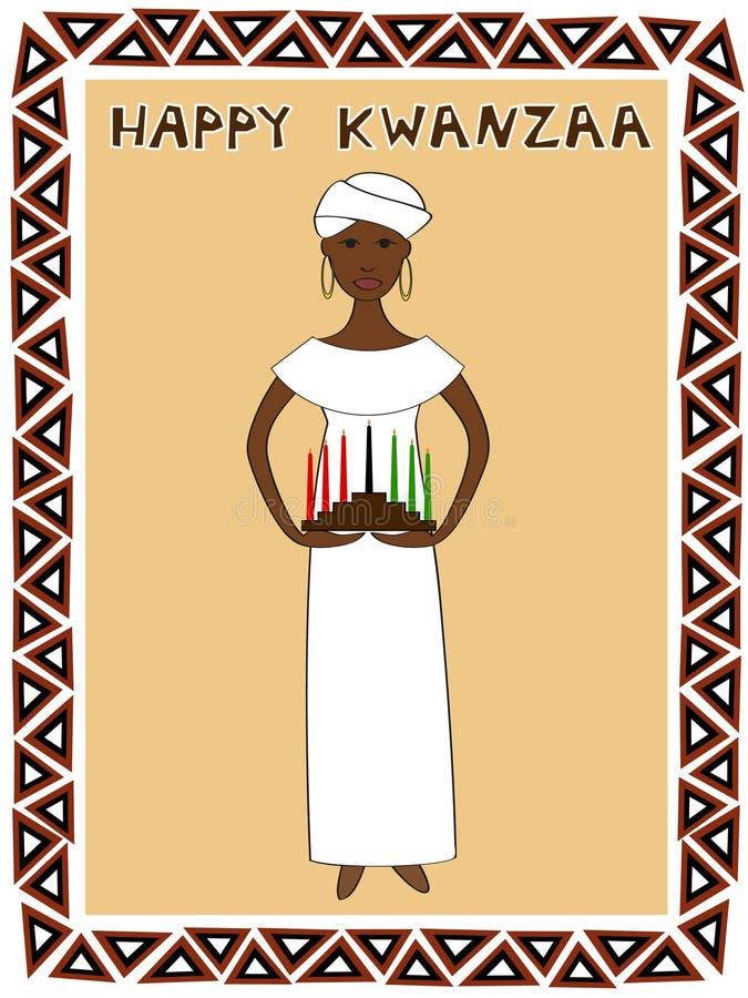 Κορίτσι Kwanzaa διανυσματική απεικόνιση