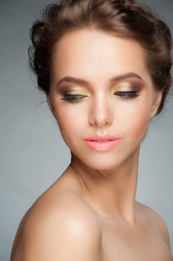 κορίτσι makeup μοντέρνο στοκ φωτογραφία με δικαίωμα ελεύθερης χρήσης
