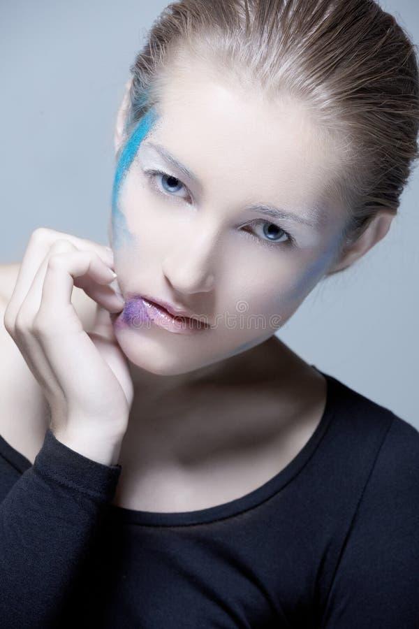 Κορίτσι Makeup Blondie ΤΕΧΝΗΣ στοκ εικόνα με δικαίωμα ελεύθερης χρήσης