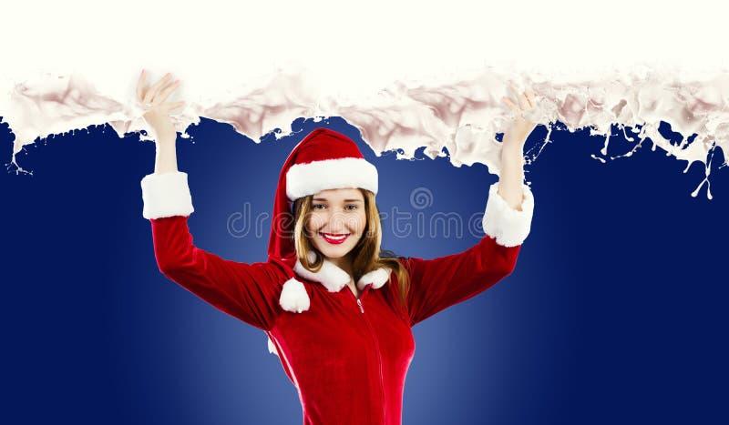 Κορίτσι Santa στοκ εικόνες με δικαίωμα ελεύθερης χρήσης