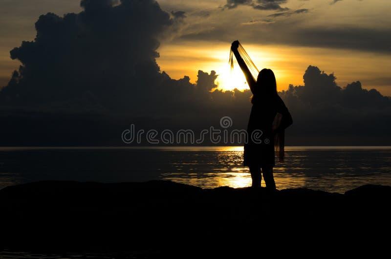 κορίτσι sihouette στοκ φωτογραφίες με δικαίωμα ελεύθερης χρήσης