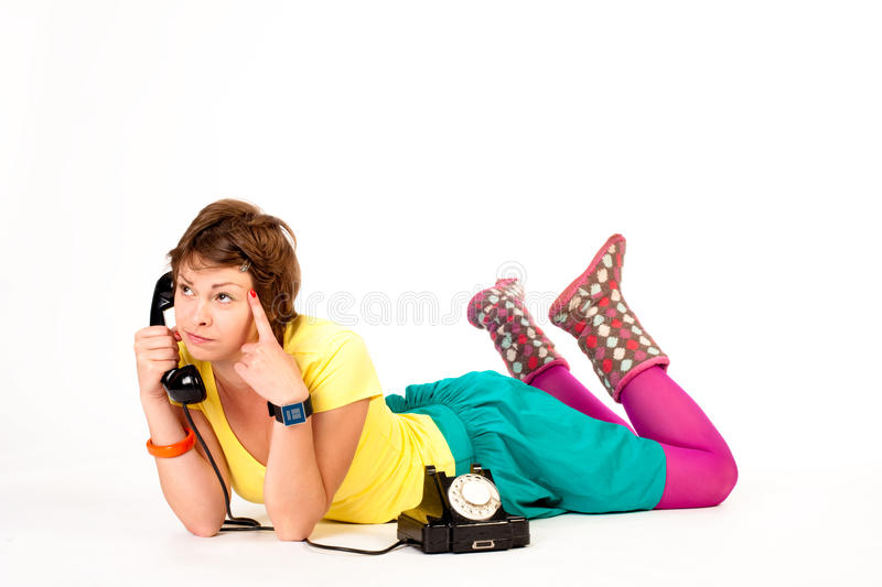 κορίτσι talker στοκ εικόνες με δικαίωμα ελεύθερης χρήσης