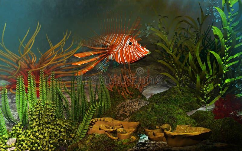 Κοραλλιογενής ύφαλος διανυσματική απεικόνιση