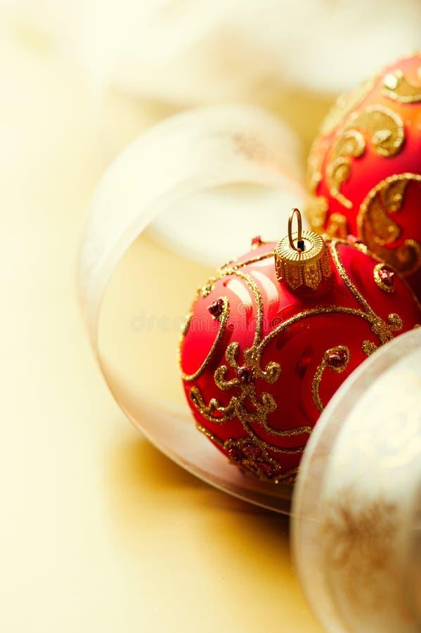 κορδέλλα δώρων Χριστου&gamma στοκ εικόνα