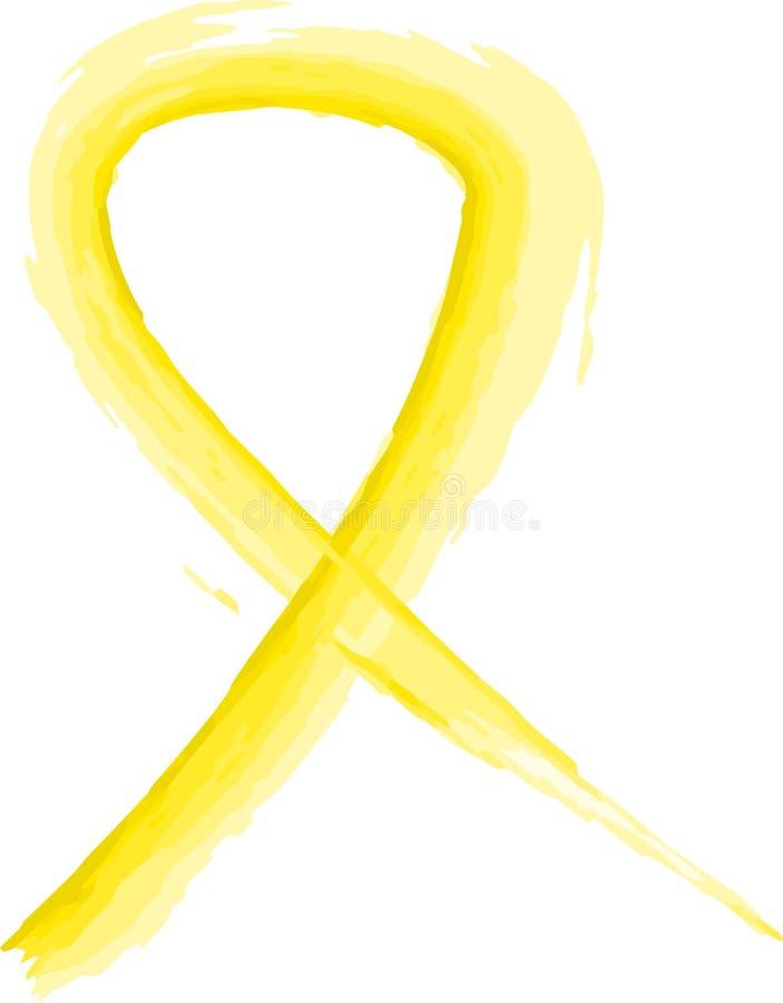 κορδέλλα κίτρινη διανυσματική απεικόνιση