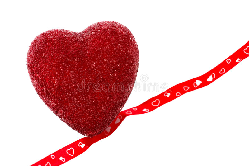 κορδέλλα καρδιών στοκ εικόνα με δικαίωμα ελεύθερης χρήσης