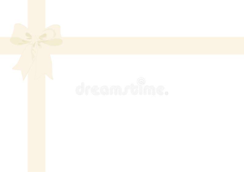 Κορδέλλα περικαλυμμάτων δώρων & ελεφαντόδοντο τόξων απεικόνιση αποθεμάτων