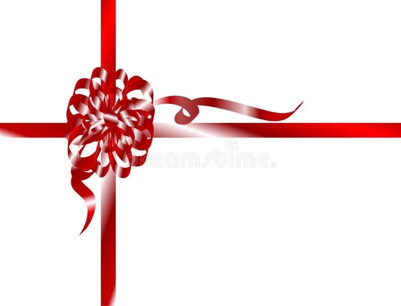 κορδέλλα Χριστουγέννων διανυσματική απεικόνιση
