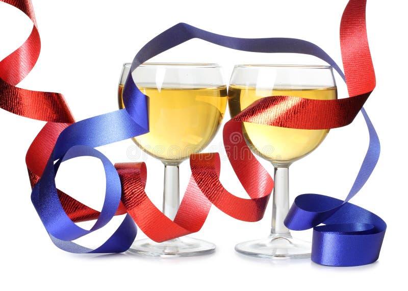 κορδέλλες δύο κρασί στοκ φωτογραφίες με δικαίωμα ελεύθερης χρήσης