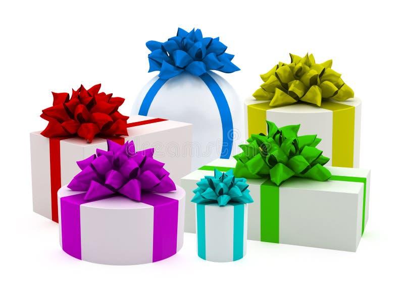 κορδέλλες δώρων χρώματο&sigma διανυσματική απεικόνιση