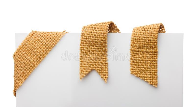 Κορδέλλες σελιδοδεικτών σάκων στοκ εικόνα