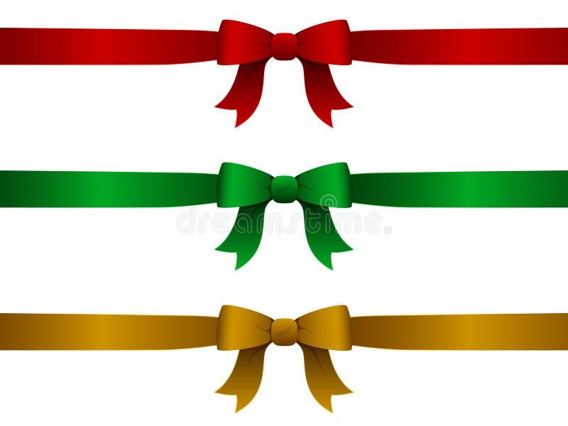 κορδέλλες Χριστουγένν&omeg διανυσματική απεικόνιση