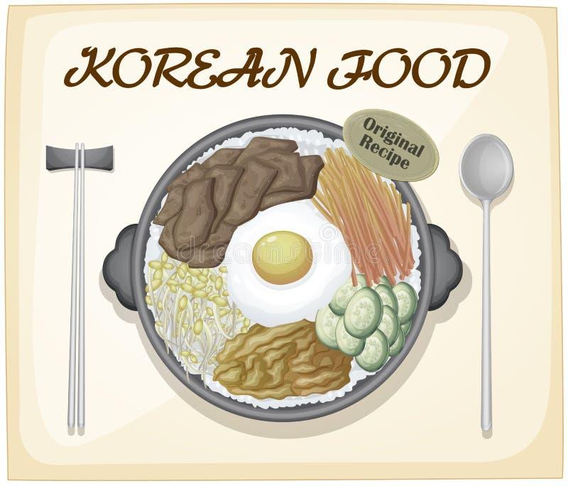 Κορεατικά τρόφιμα διανυσματική απεικόνιση