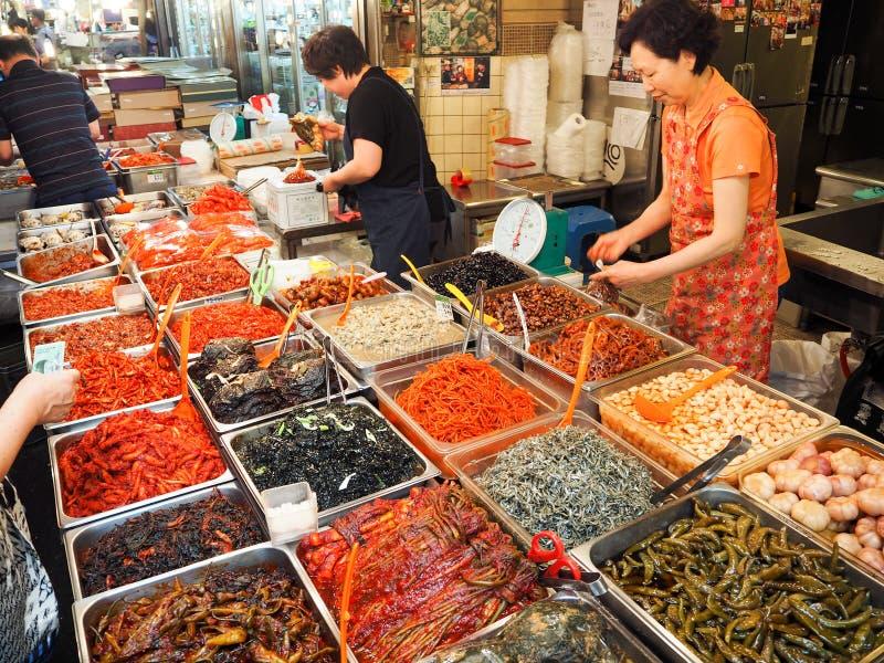 Κορεατική αγορά τροφίμων στοκ φωτογραφία με δικαίωμα ελεύθερης χρήσης