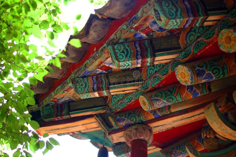 Κορεατική αρχιτεκτονική λεπτομέρεια στοκ εικόνα με δικαίωμα ελεύθερης χρήσης