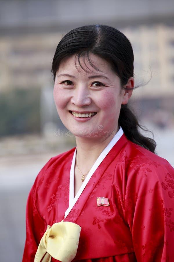 κορεατική βόρεια γυναίκ&al στοκ φωτογραφίες