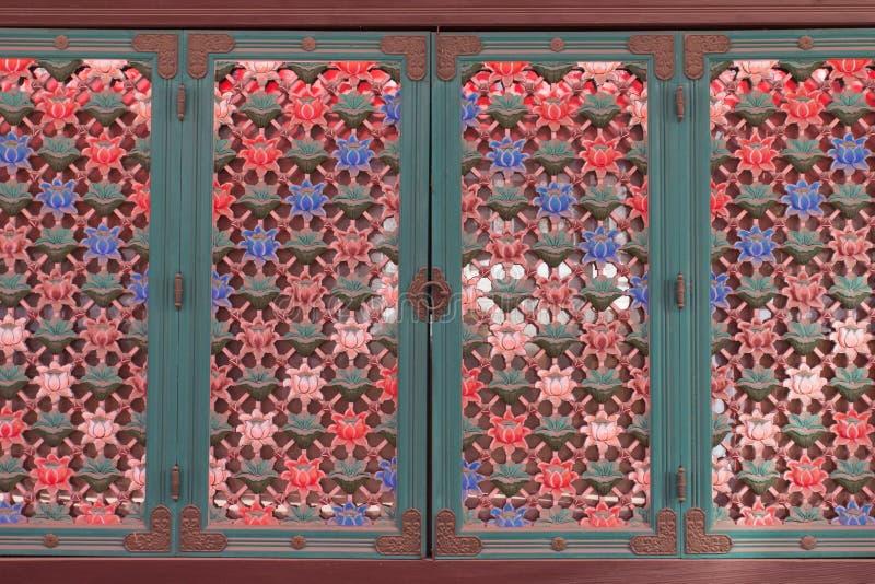 Κορεατική εκλεκτής ποιότητας πόρτα στοκ εικόνες