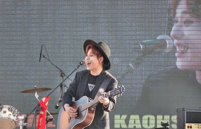Κορεατική παράσταση τραγουδιστή K-Pop στοκ φωτογραφία με δικαίωμα ελεύθερης χρήσης