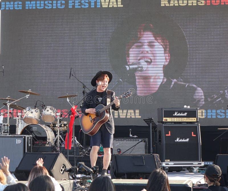 Κορεατική παράσταση τραγουδιστή K-Pop στοκ φωτογραφίες με δικαίωμα ελεύθερης χρήσης