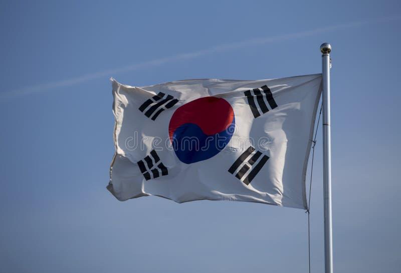 Κορεατική σημαία στοκ εικόνα με δικαίωμα ελεύθερης χρήσης
