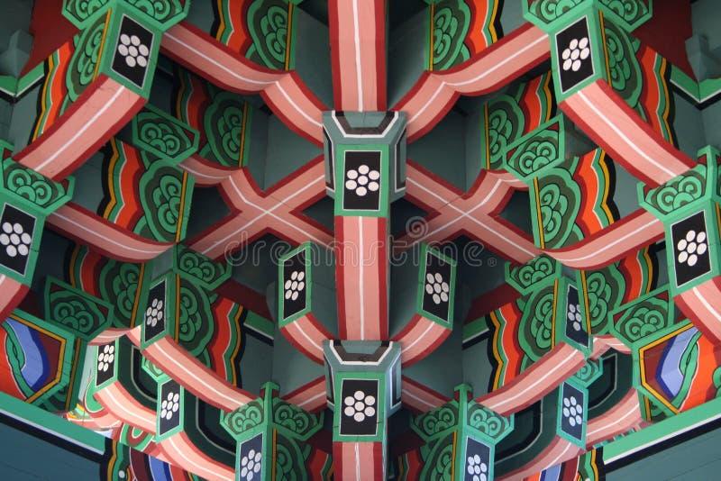 κορεατική στέγη στοκ φωτογραφία με δικαίωμα ελεύθερης χρήσης