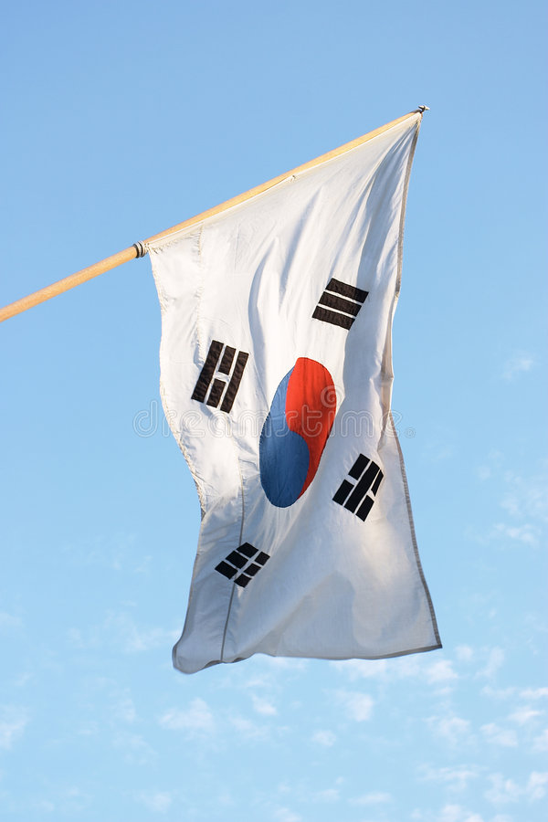 Download κορεατικός νότος σημαιών στοκ εικόνα. εικόνα από κορεατικά - 63283