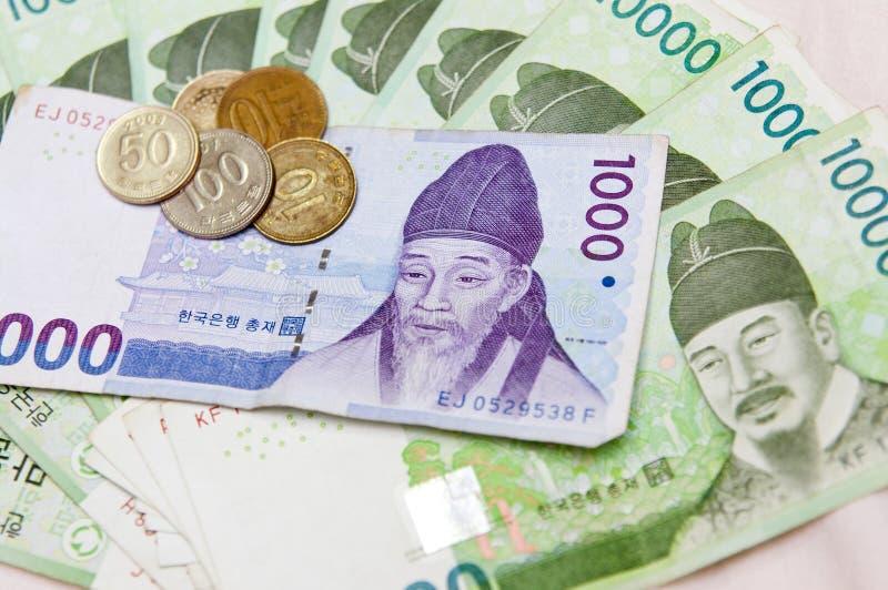 κορεατικός νότος χρημάτων στοκ εικόνες