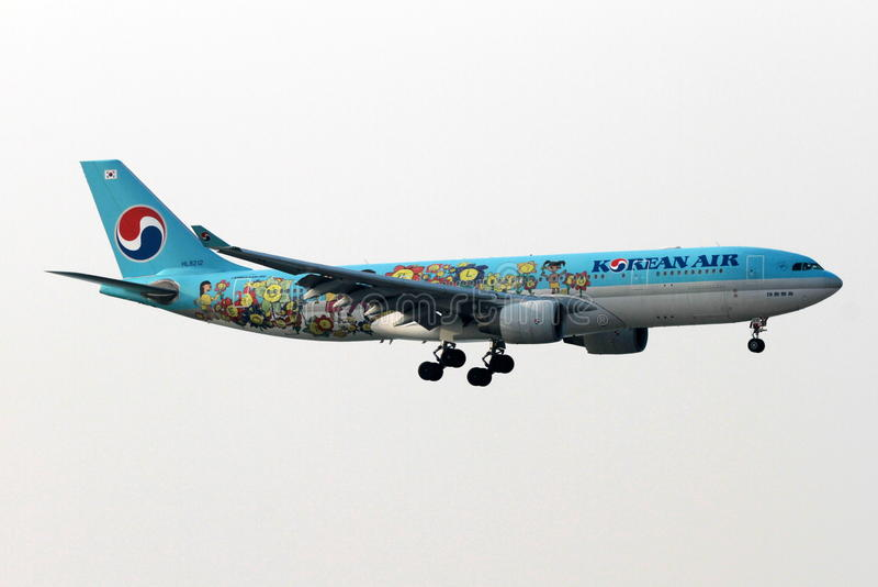 Κορεατικό αεροπλάνο αέρα στοκ φωτογραφίες
