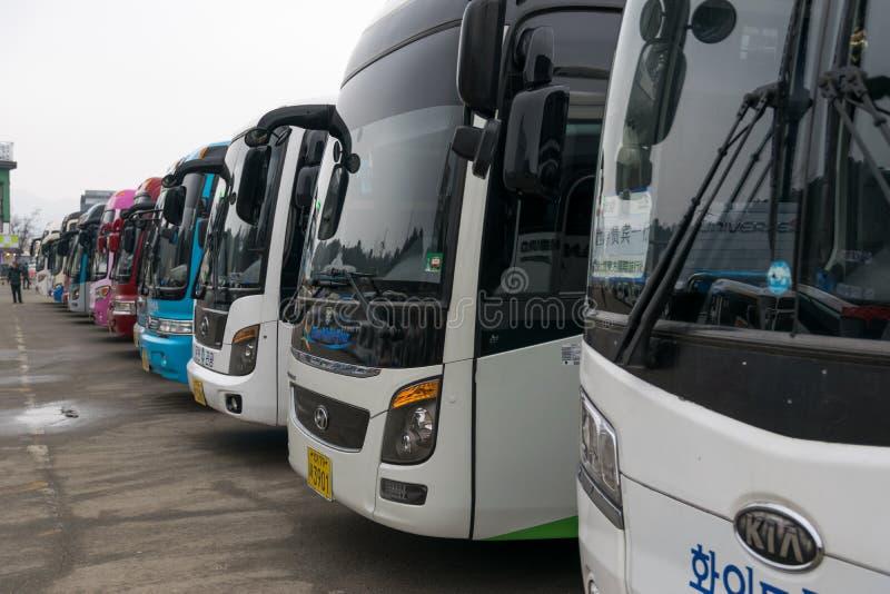 Κορεατικό λεωφορείο τουριστών στοκ εικόνες