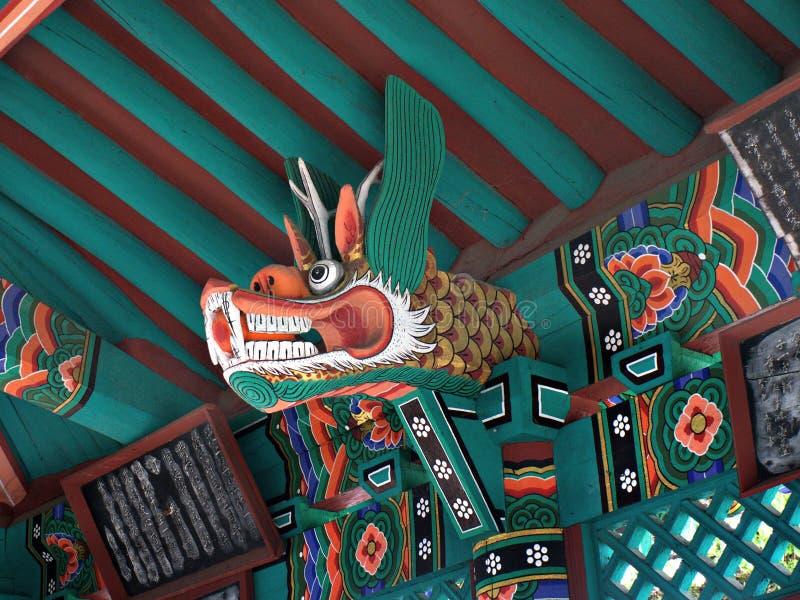Κορεατικό κεφάλι δράκων, πάρκο Deokjin, Jeonju Νότια Κορέα στοκ εικόνες με δικαίωμα ελεύθερης χρήσης