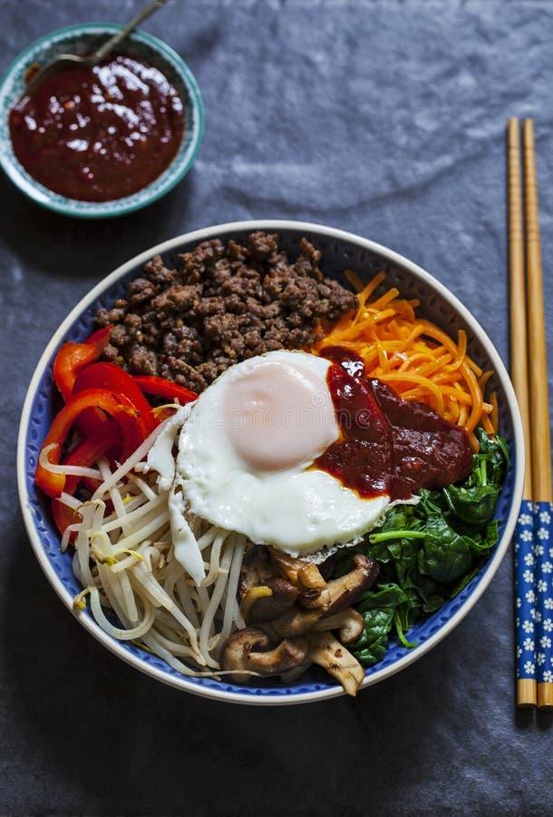 Κορεατικό πιάτο bibimbap στοκ εικόνες