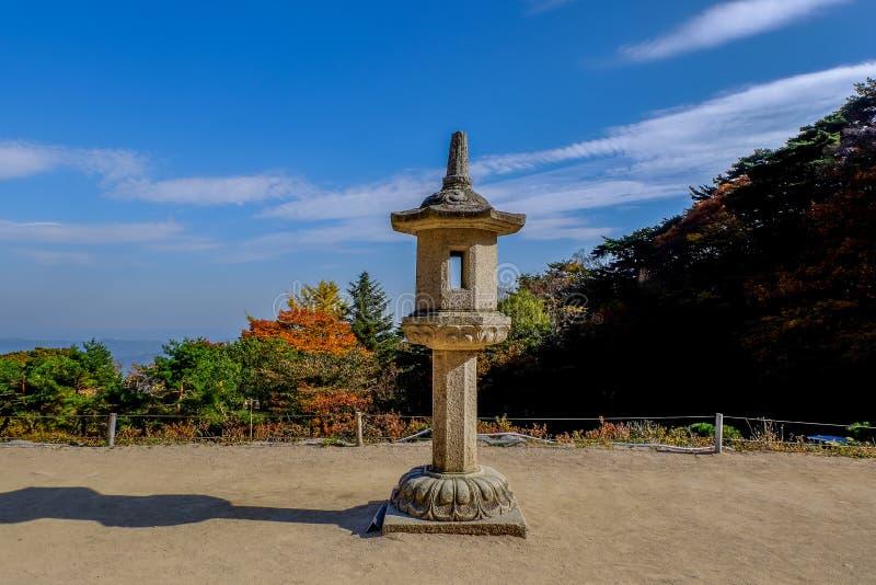 Κορεατικό φανάρι πετρών στοκ φωτογραφίες με δικαίωμα ελεύθερης χρήσης
