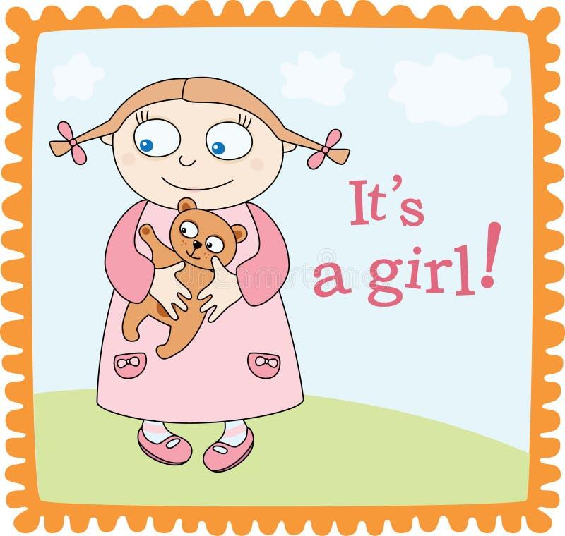 κοριτσάκι ανακοίνωσης απεικόνιση αποθεμάτων