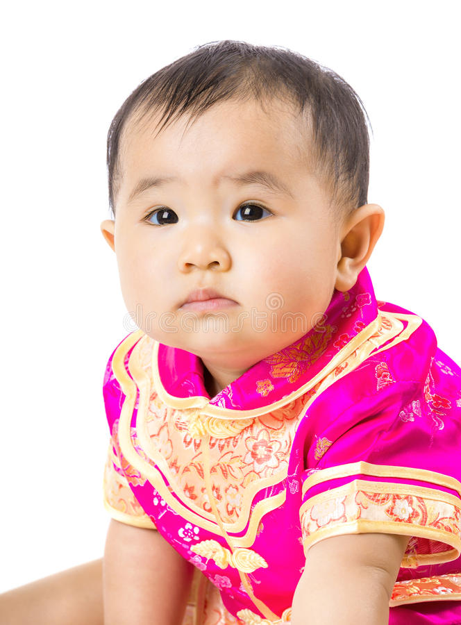Κοριτσάκι με την κινεζική σάλτσα ύφους στοκ εικόνα με δικαίωμα ελεύθερης χρήσης