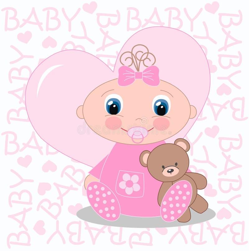 κοριτσάκι νεογέννητο απεικόνιση αποθεμάτων