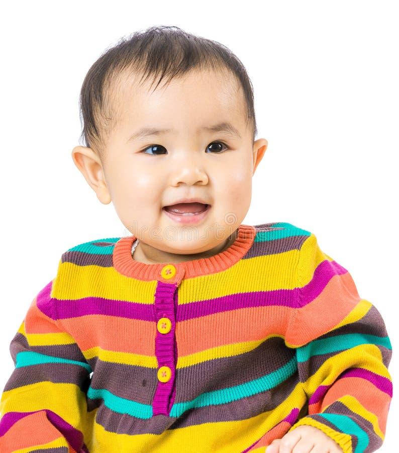 Κοριτσάκι που απομονώνεται στο λευκό στοκ φωτογραφία με δικαίωμα ελεύθερης χρήσης