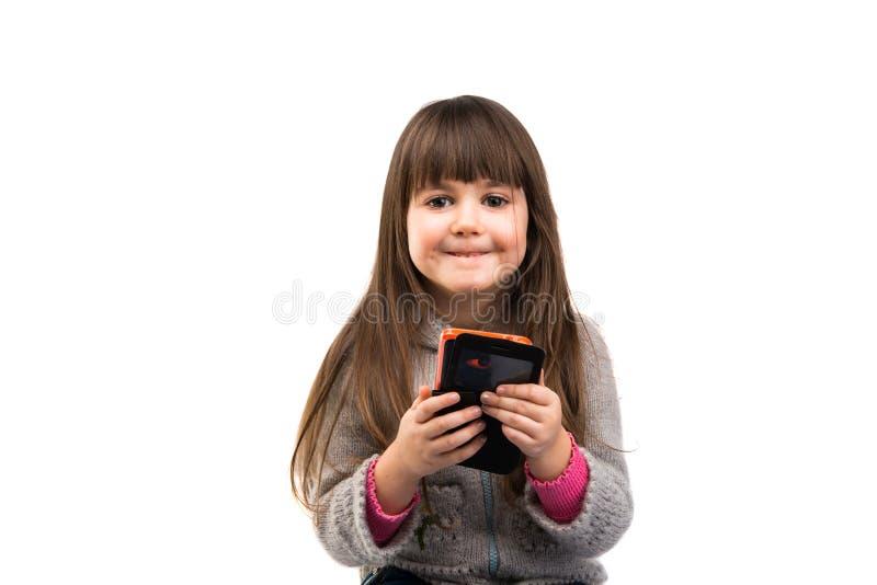 Κοριτσάκι που απομονώνεται στοκ εικόνες